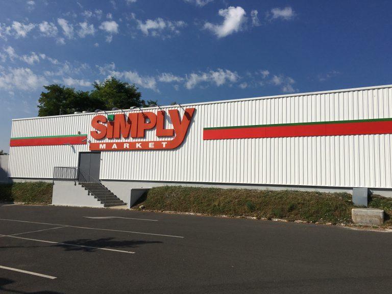 Rénovation extérieur Simply Market